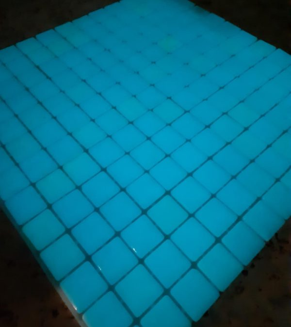 Placa Luminiscente (luz azul)